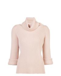 Jersey de cuello alto rosado de RED Valentino