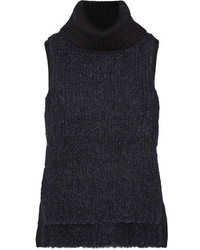 Jersey de cuello alto sin mangas azul marino de Rag & Bone
