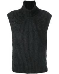 Jersey de cuello alto sin mangas negro de Etoile Isabel Marant