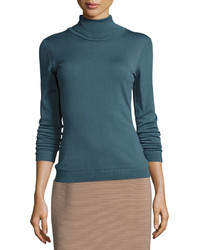 Jersey de cuello alto verde azulado original 2822487
