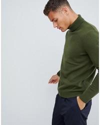 Jersey de cuello alto verde oliva de ASOS DESIGN