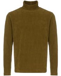 Jersey de cuello alto verde oliva de Dashiel Brahmann