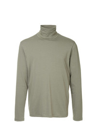 Jersey de cuello alto verde oliva de Jil Sander