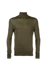Jersey de cuello alto verde oliva de Neil Barrett