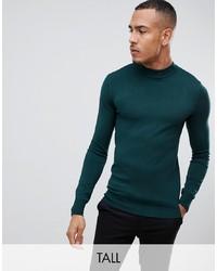 Jersey de cuello alto verde oscuro de Gianni Feraud