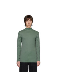 Jersey de cuello alto verde oscuro de Lemaire