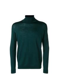 Jersey de cuello alto verde oscuro de Roberto Collina