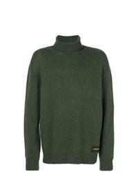 Jersey de cuello alto verde oscuro de Stella McCartney