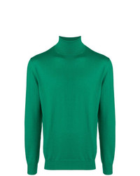 Jersey de cuello alto verde de Cruciani