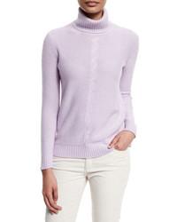 Jersey de cuello alto violeta claro