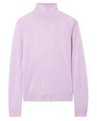 Jersey de cuello alto violeta claro de Theory