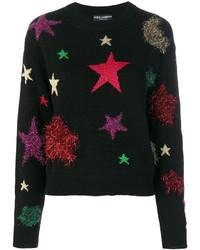 Jersey de lana de estrellas negro de Dolce & Gabbana