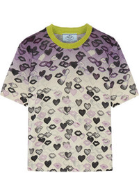 Jersey de lana estampado violeta claro de Prada