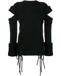 Jersey de lana negro de Alexander McQueen