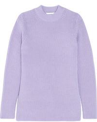 Jersey de lana violeta claro de Carven