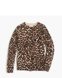 Jersey de leopardo marrón claro