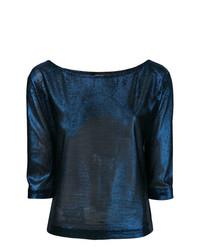 Jersey de manga corta azul marino de Dsquared2