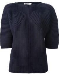 Jersey de manga corta azul marino de Jil Sander