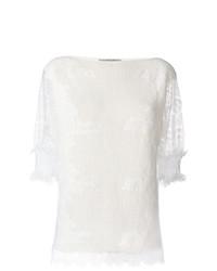 Jersey de manga corta blanco de Ermanno Scervino