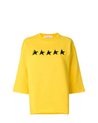 Jersey de manga corta bordado amarillo de Golden Goose Deluxe Brand