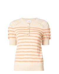 Jersey de manga corta de rayas horizontales en beige de Barrie