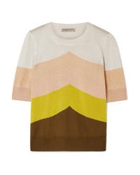 Jersey de manga corta de rayas horizontales en multicolor de Bottega Veneta