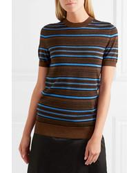 Jersey de manga corta de rayas horizontales en multicolor de Prada