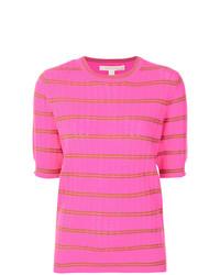 Jersey de manga corta de rayas horizontales rosa de Marc Jacobs