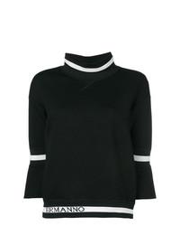 Jersey de manga corta en negro y blanco de Ermanno Scervino