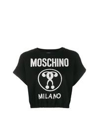 Jersey de manga corta en negro y blanco de Moschino