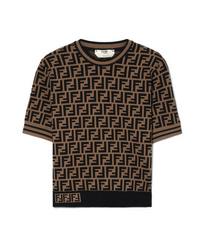 Jersey de manga corta estampado negro de Fendi