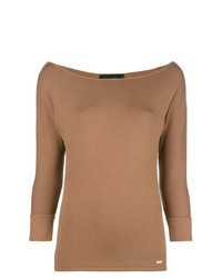 Jersey de manga corta marrón claro de Dsquared2