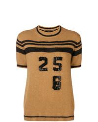 Jersey de manga corta marrón claro de Ermanno Scervino