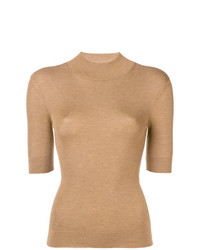 Jersey de manga corta marrón claro de RED Valentino