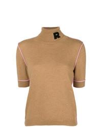 Jersey de manga corta marrón claro de Rochas