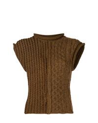 Jersey de manga corta marrón de Chloé
