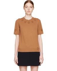 Jersey de manga corta marrón de Marc Jacobs