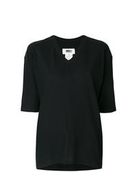 Jersey de manga corta negro de MM6 MAISON MARGIELA