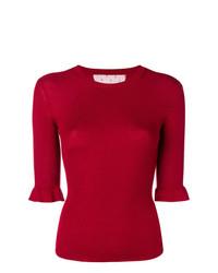 Jersey de manga corta rojo de RED Valentino