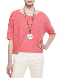 Jersey de manga corta rosado