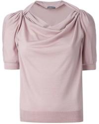 Jersey de manga corta rosado de Alexander McQueen