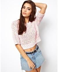 Jersey de manga corta rosado de Asos
