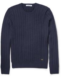 Jersey de ochos azul marino de Burberry