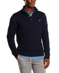 Jersey de ochos azul marino de Gant