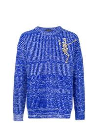 Jersey de ochos azul de Alexander McQueen