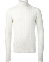 Jersey de ochos blanco de Drumohr