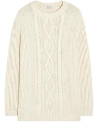 Jersey de ochos blanco de Miu Miu