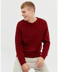 Jersey de ochos burdeos de Burton Menswear
