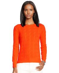 Jersey de ochos de punto naranja