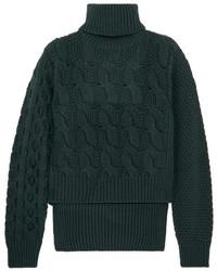 Jersey de ochos de punto verde oscuro
